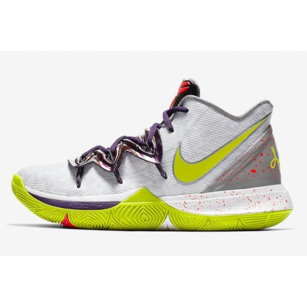 Men Nike Kyrie 5 Mambatality White-Cyber