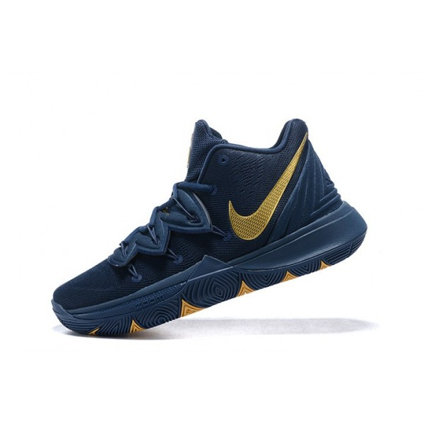 Men Nike Kyrie 5 Philippines Navy Blue-Metallic Gold