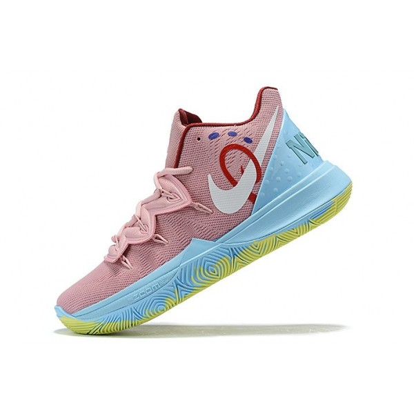 Men Nike Kyrie 5 Pink Red-Blue-Yellow