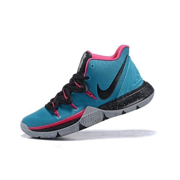 Men Nike Kyrie 5 South Beach Blue Gale-Laser Fuchsia-Black