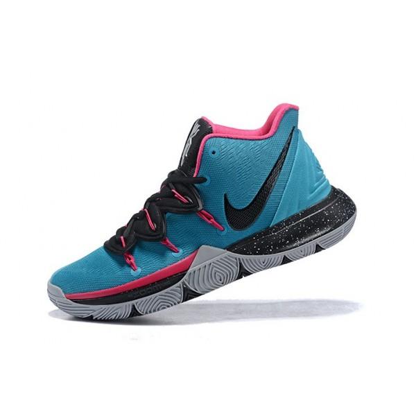 Men Nike Kyrie 5 South Beach Blue Gale-Laser Fuchsia-Black