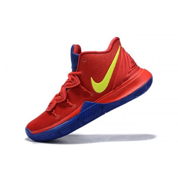 Men Nike Kyrie 5 University Red-Blue-Volt