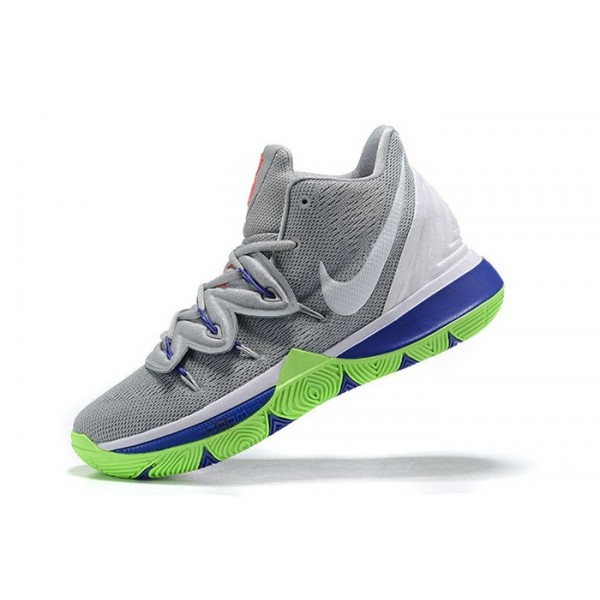 Men Nike Kyrie 5 Wolf Grey-White-Lime Blast
