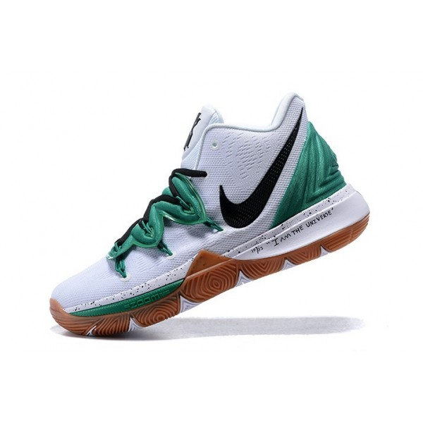 Men Nike Kyrie Irving 5 Celtics PE White Green Gum