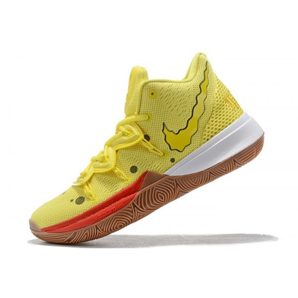 Men SpongeBob SquarePants x Nike Kyrie 5 SpongeBob Opti Yellow