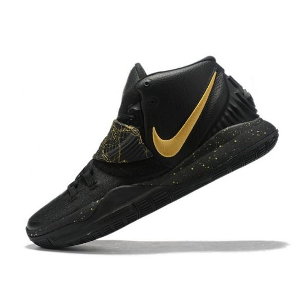 Men Nike Kyrie 6 Black-Metallic Gold