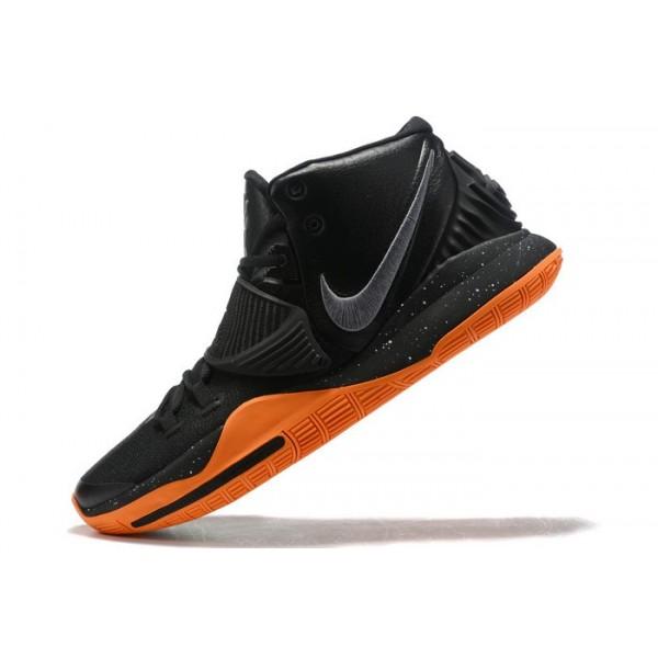 Men Nike Kyrie 6 Black-Orange-Metallic Silver