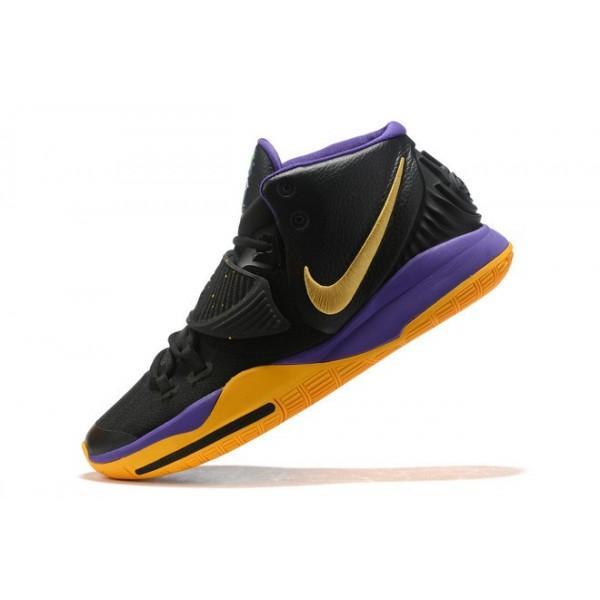 Men Nike Kyrie 6 Black-Purple-Metallic Gold