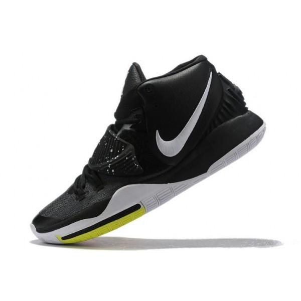 Men Nike Kyrie 6 Black White-Yellow