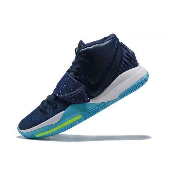 Men Nike Kyrie 6 Navy Blue-White-Green