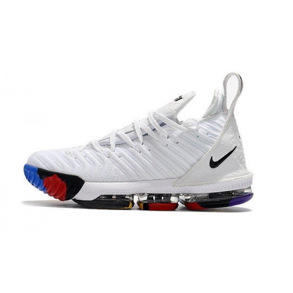 Men 2018 Nike LeBron 16 White-Multi-Color