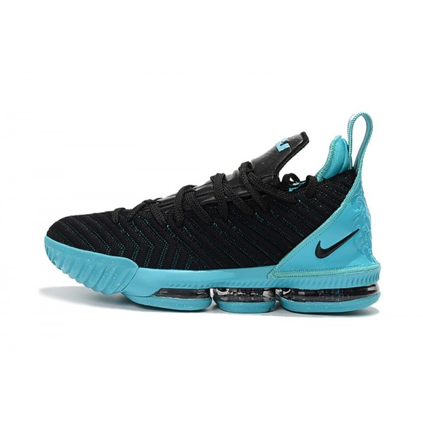 Men 2018 Nike LeBron James 16 Black Jade Black Blue