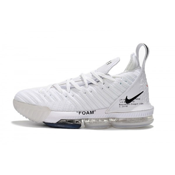 Men 2018 Off-White x Nike LeBron 16 White Black