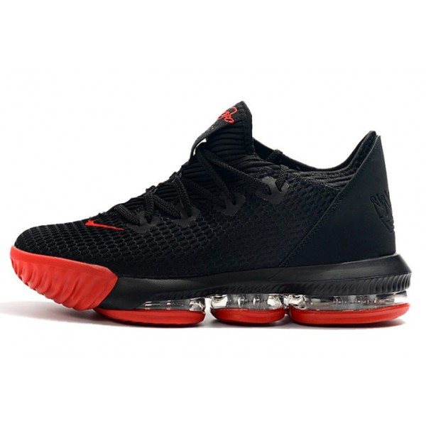 Men Nike LeBron 16 Low Black Red
