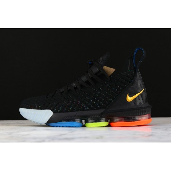 Men LeBron James Nike LeBron 16 I Promise Black-Multicolor