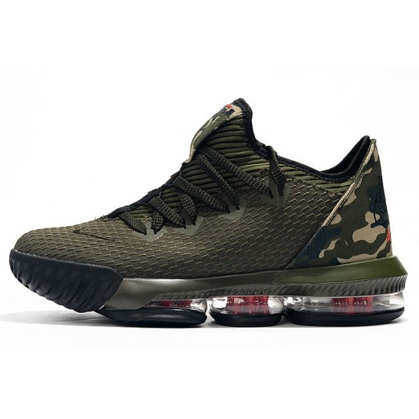 Men Nike LeBron 16 Low Camo Cargo Khaki