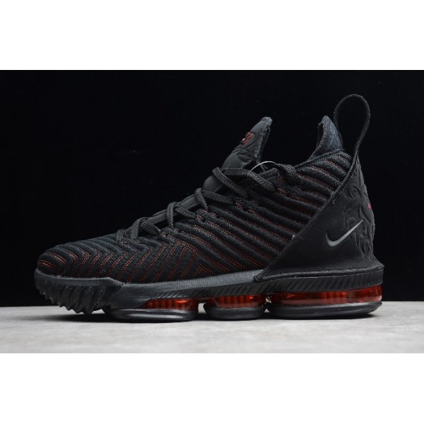 Men Nike LeBron 16 EP Fresh Bred Black-University Red