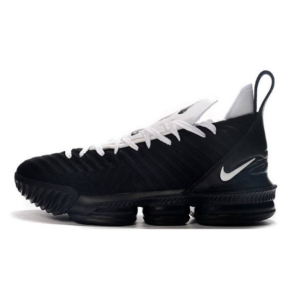 Men Nike LeBron 16 Four HorseBlack White