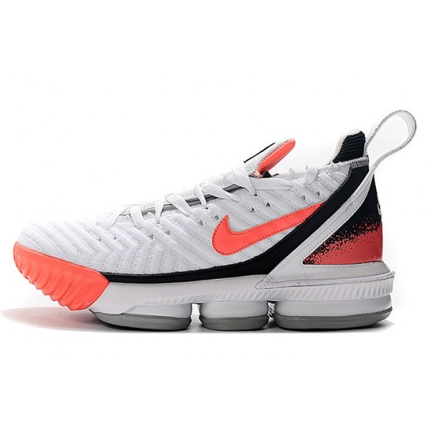 Men Nike LeBron 16 Hot Lava White-Hot Lava-Flat Silver