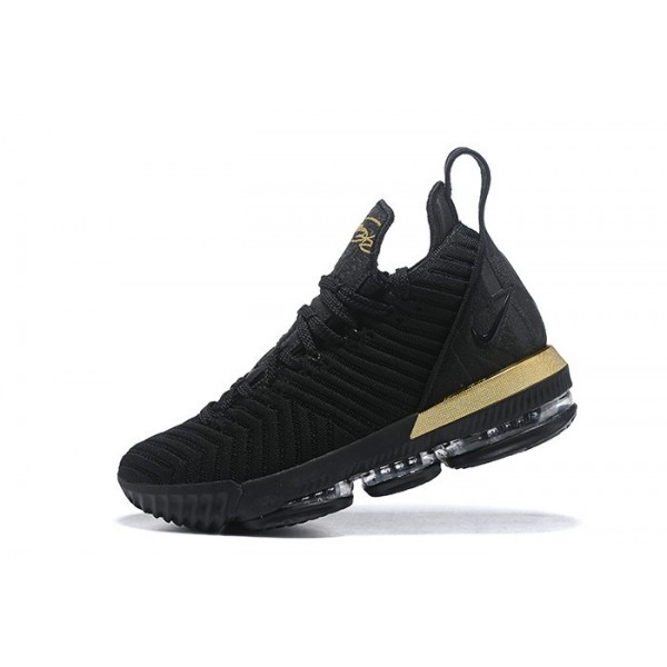 Men Nike LeBron 16 Im King Black Gold