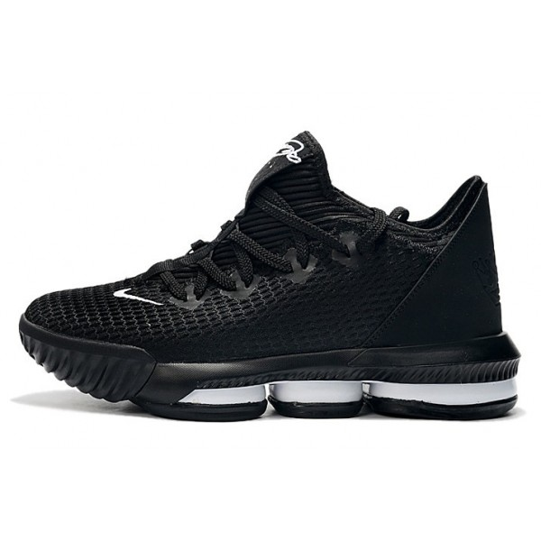 Men Nike LeBron 16 Low Black-Whites