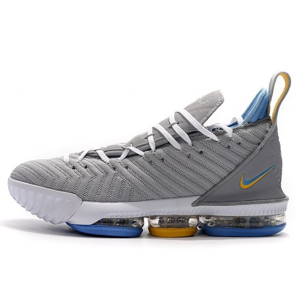 Men Nike LeBron 16 MPLS Wolf Grey-White-University Blue