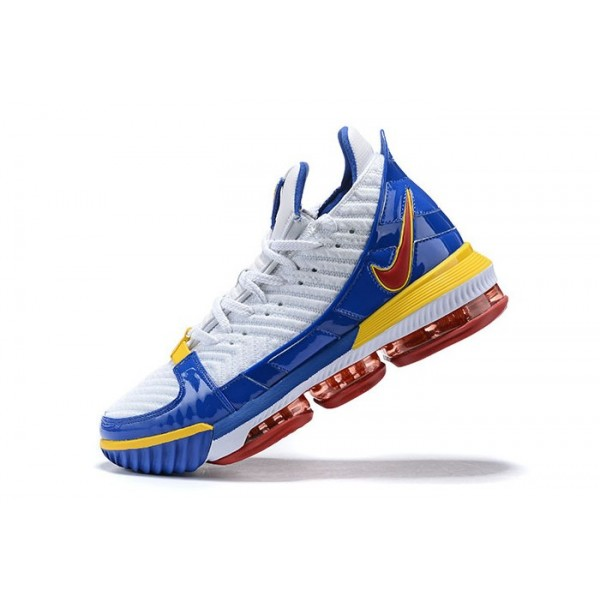 Men Nike LeBron 16 Superman SuperBron White Royal