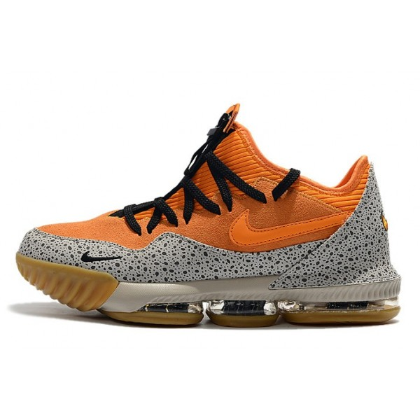 Men Nike LeBron 16 Low Safari Kumquat-Black Shoes