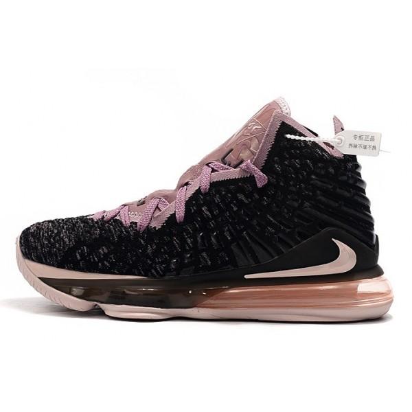 Men Nike LeBron 17 Black Grey-Pinks