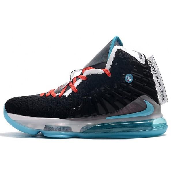 Men Nike LeBron 17 Black-Hyper Jade-White