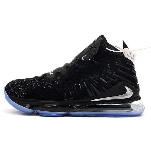 Men/Women Nike LeBron 17 Black-Metallic Silver