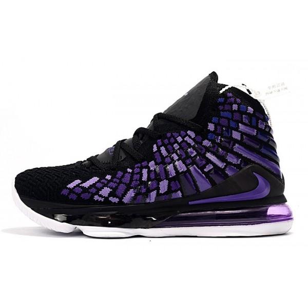 Men/Women Nike LeBron 17 Black-Purple-White