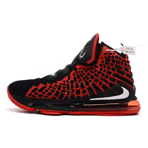 Men/Women Nike LeBron 17 Bred Black Red