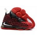 Men Nike LeBron 17 University Red Black White