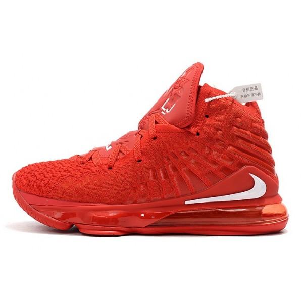 Men/Women Nike LeBron 17 University Red White