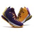 Men Nike LeBron 17 What The Lakers Purple Yellow