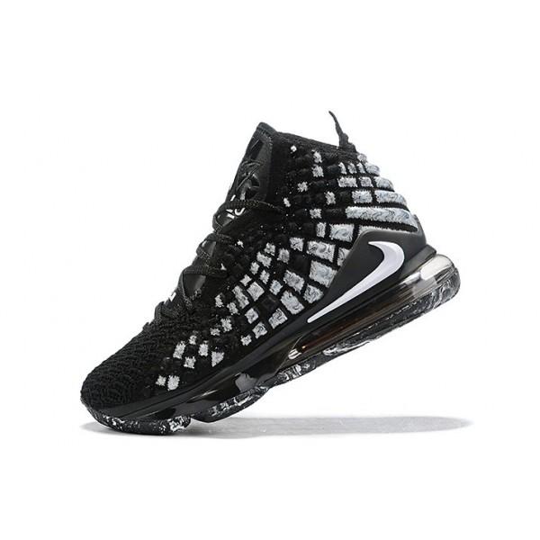 Men Nike LeBron 17 XVII EP Black White