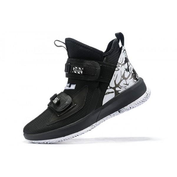 Men Nike LeBron Soldier 13 BHM Black White