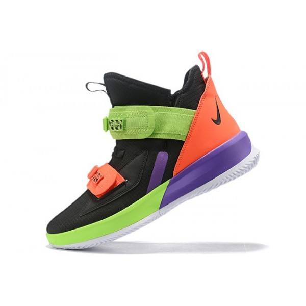Men Nike LeBron Soldier 13 Black-Orange-Volt-Purple