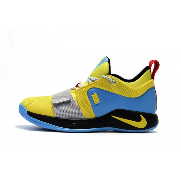 Men 2018 Nike PG 2.5 Opti Yellow Blue Hero BQ9457-740