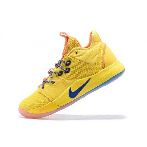 Men Shoes Nike PG 3 Bruce Lee Tour Yellow-Orange-Blue