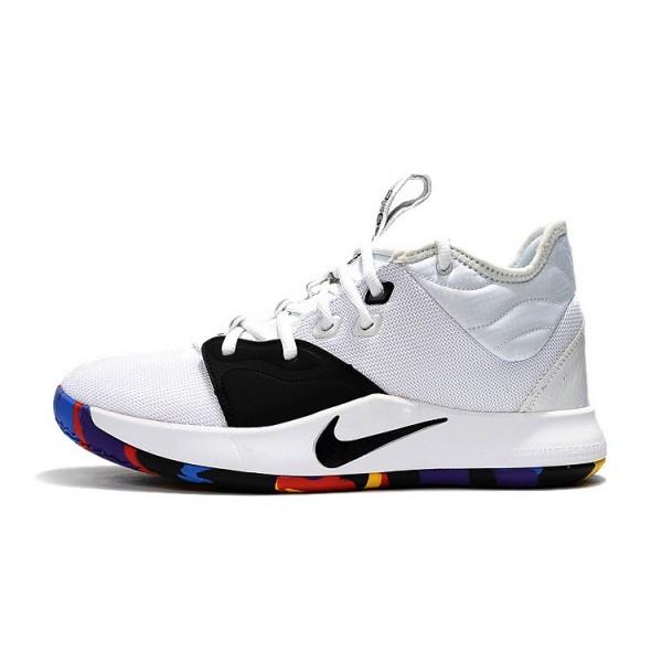 Men Nike PG 3 NCAA White-Multi-Color