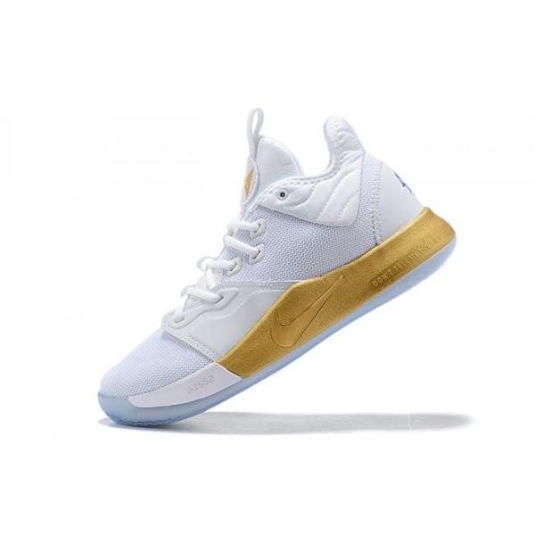 Men NASA x Nike PG 3 Apollo Missions White Gold