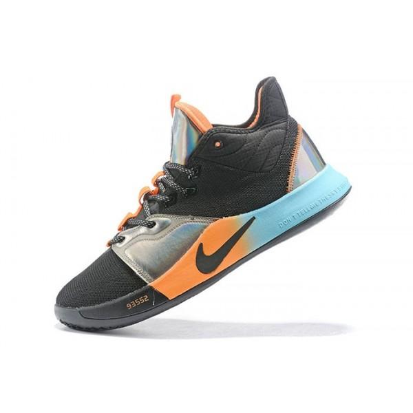 Men Nike PG 3 Black-Orange-Silver-Blue