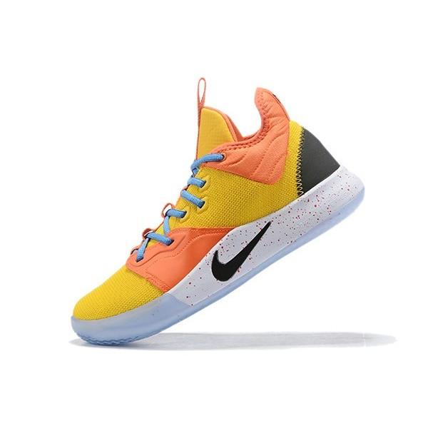 Men Nike PG 3 Dallas Mavericks Yellow Orange True