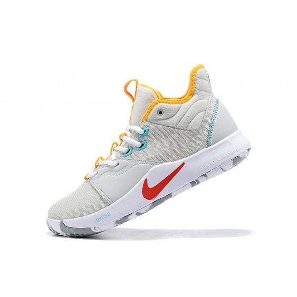 Men Nike PG 3 Light Grey-Multi-Color