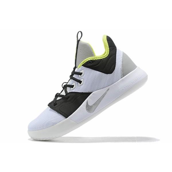 Men Nike PG 3 Los Angeles Lakers White-Black-Green