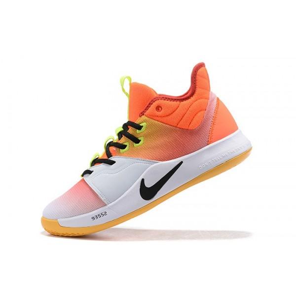 Men Nike PG 3 Orange-Volt-Black-White