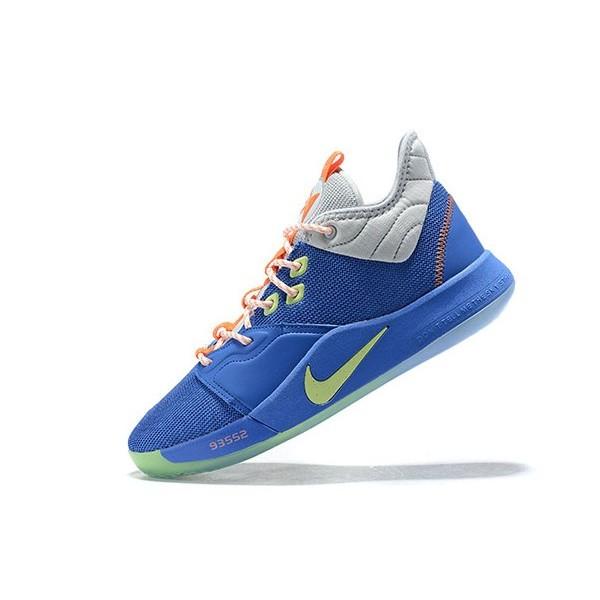 Men Nike PG 3 Royal Blue-Grey-Volt-Orange