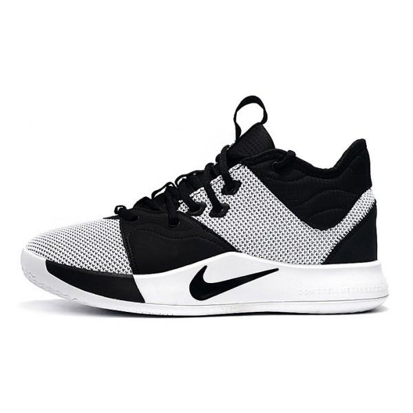 Men Nike PG 3 Shoes White-Black